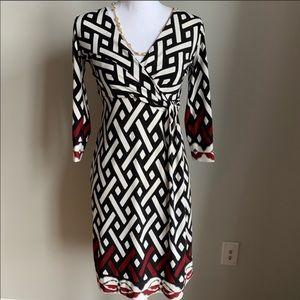 White House Black Market faux wrap dress